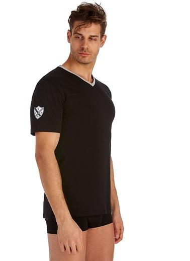 U.S. Polo Assn. V-Yaka T-Shirt Siyah
